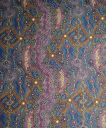 Yalke blue fabric by the yard