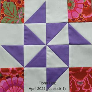 Floral Fizz April 2021 (kit block 1)