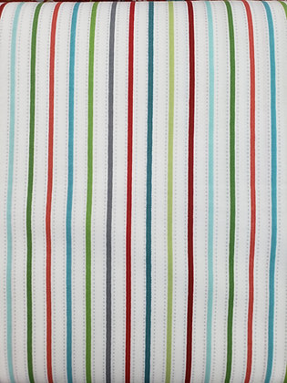 First Frost Multi-Color Stripe fabric by the yard
