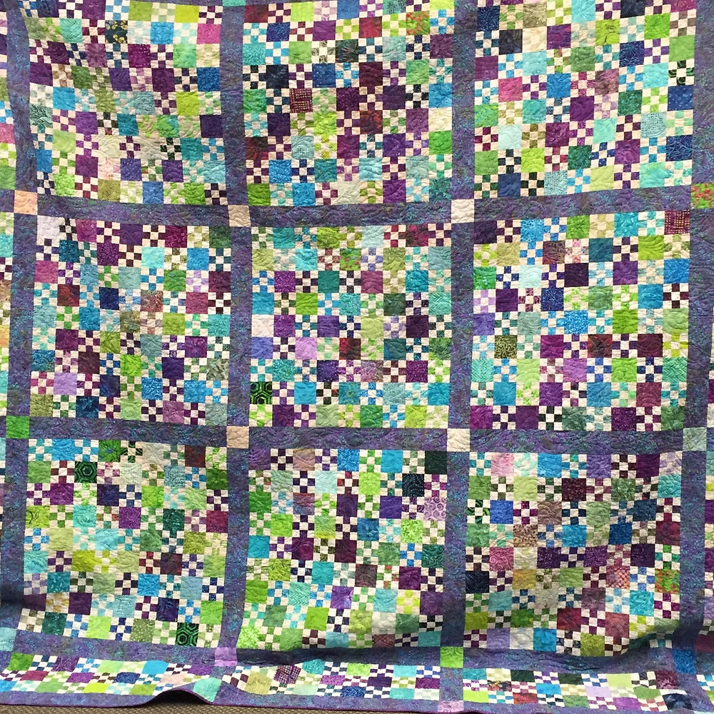 This is the top of a quilt I finished recently.