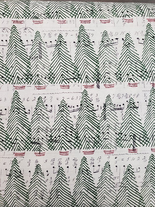 Holly Jolly Musical Trees fabric by the yard