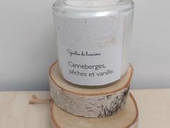 Chandelle - Canneberges, pêches et vanille.