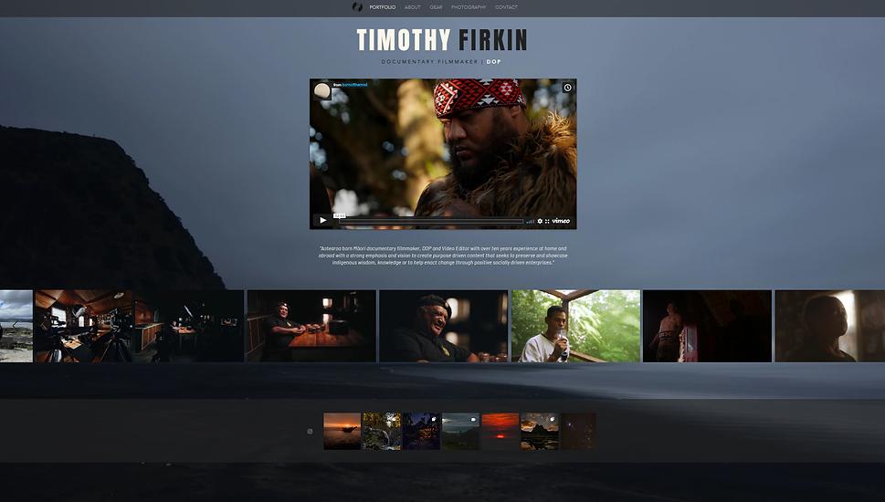 timothyfirkin.com homepage