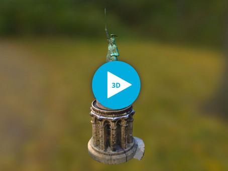 3D Modell vom Hermannsdenkmal
