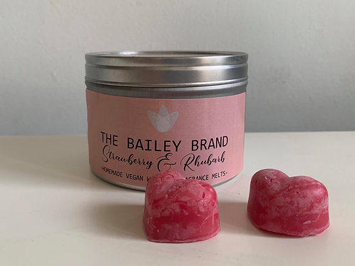 Strawberry and Rhubarb Wax Melts