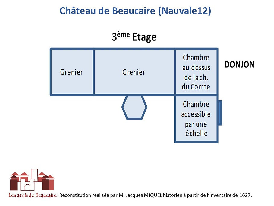 Chateau de Beaucaire (Nauviale12) Archit
