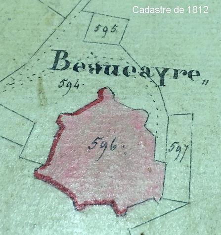 Chateau de Beaucaire Cadastre 1812.jpg