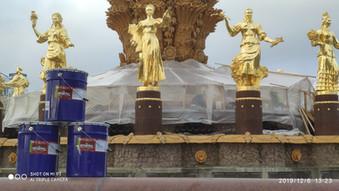 Гидроизоляция фонтана на ВДНХ