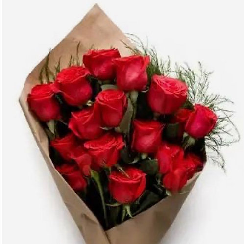 """""""Red France"""" Roses Wrapped No Vase"""