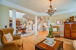 Formal living room, traditional, transitional design