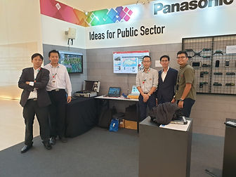 Panasonic Singapore Event Exhibition, high bandwidth multimedia wireless streaming, wireless bridging, wireless recording.