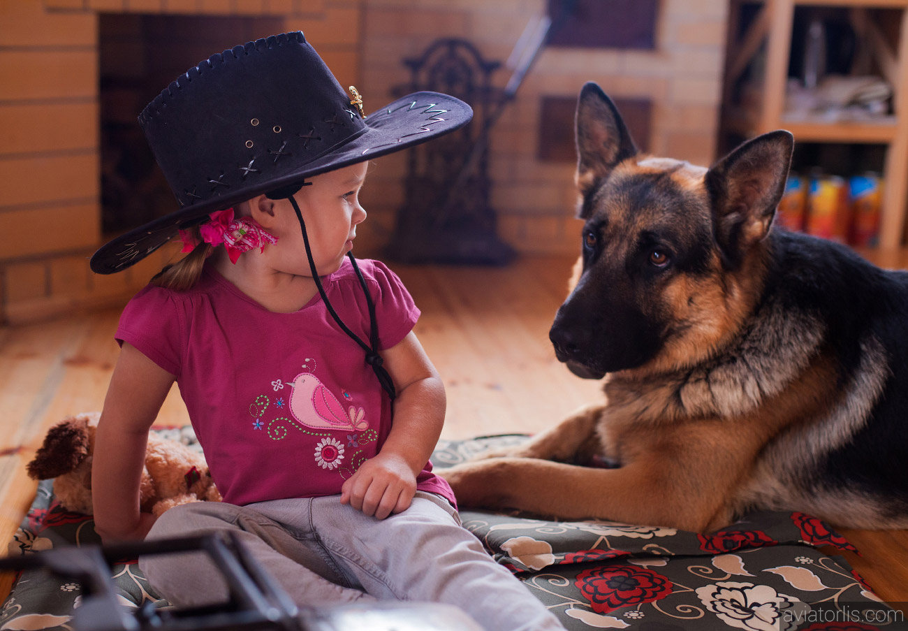 Детская фотосъемка с животными