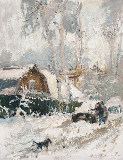Снег. Этюд