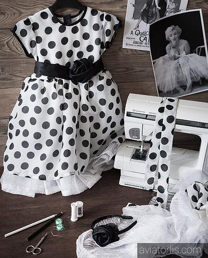 костюм для фотосессии, детское фото, платье Мэрлин Монро, шьем костюмы, бальное платье, антураж для фото, платье в горошек, ретро стиль, ретро фото