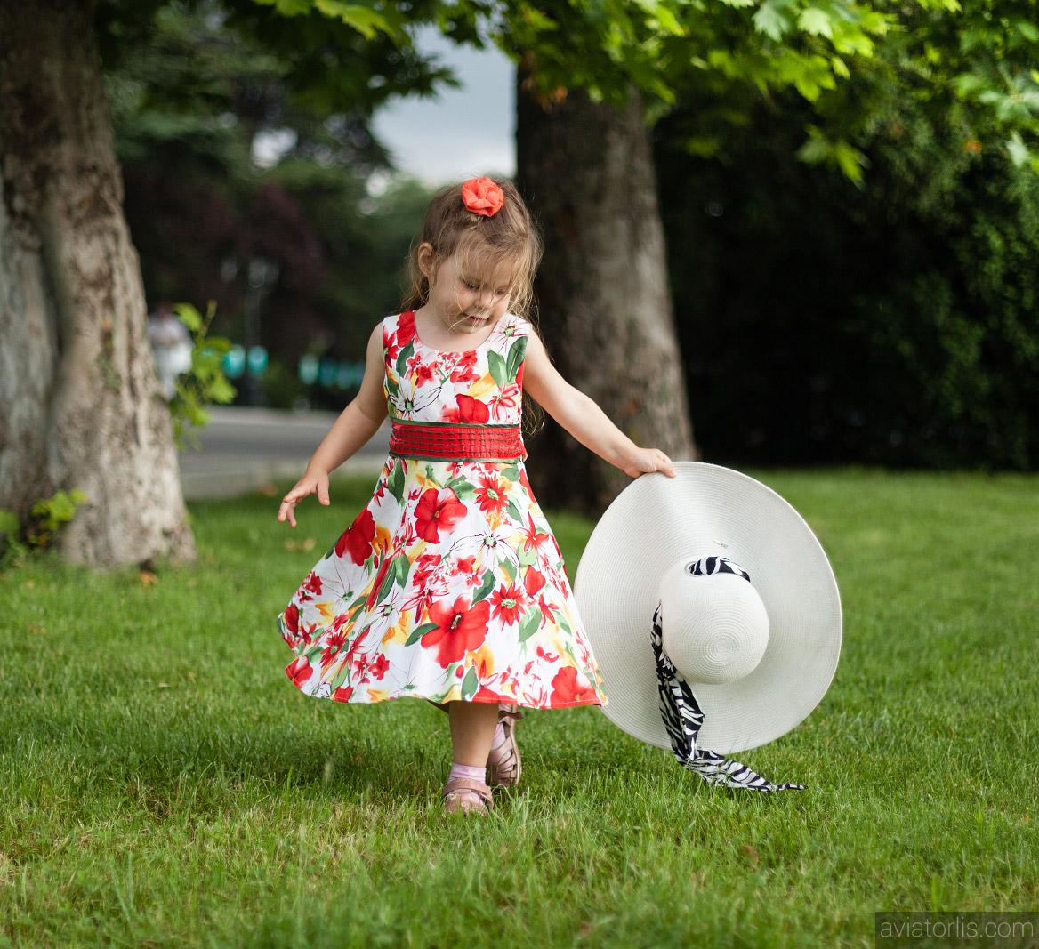 Детская фотосъемка в парке