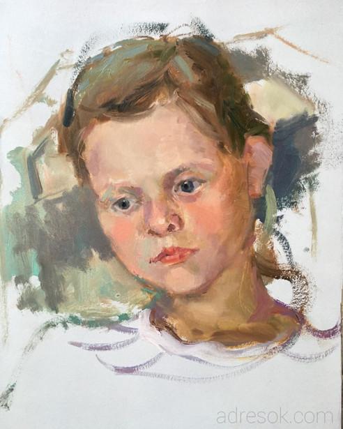 Каролина. Портрет на пленэре