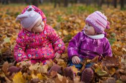 Детская фотосъемка в осеннем лесу