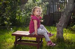 Детская фотосъемка в саду