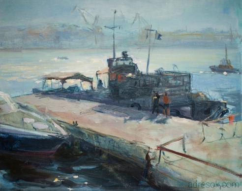 Кораблик с водолазами