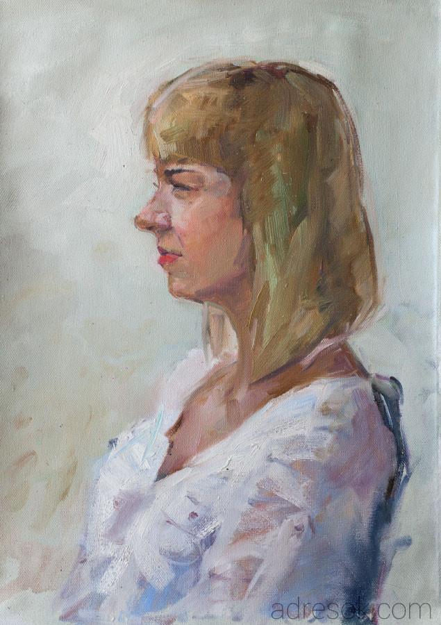 Ирина. Портрет на пленэре.
