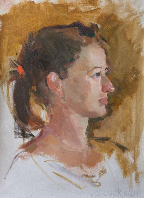 Полина. Портрет на пленэре.