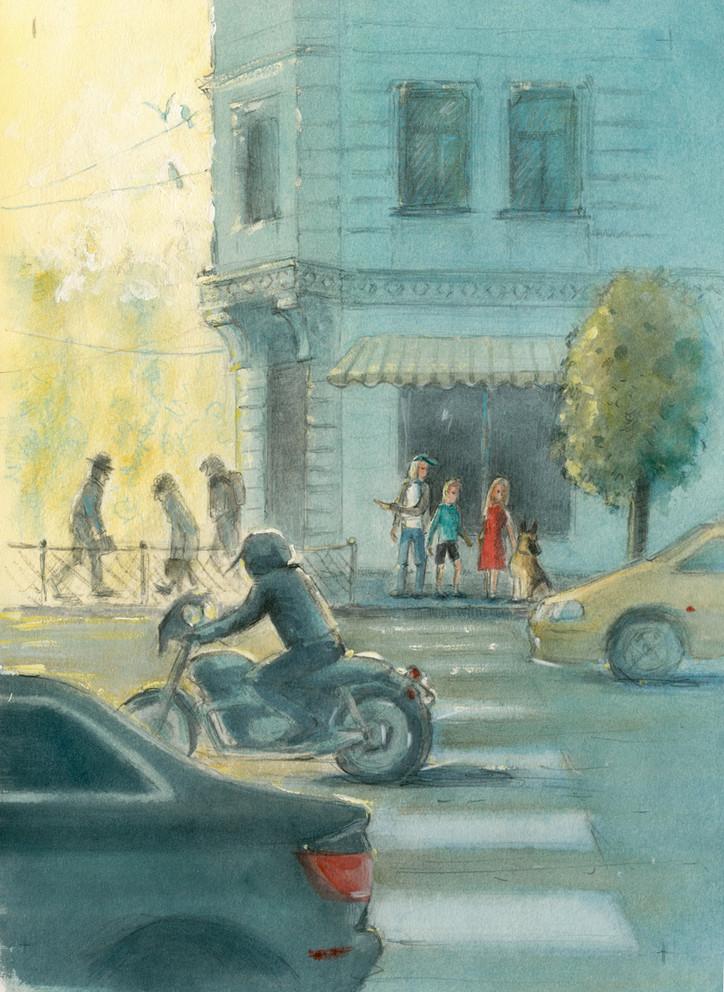 """Иллюстрации к книге """"Ключи от осени"""" А. Кашура"""