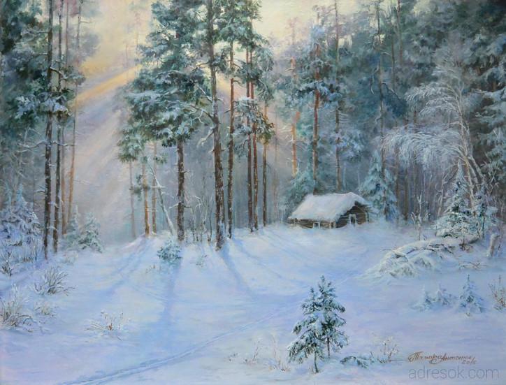Жила зима в избушке