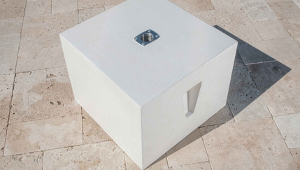 The Cube a concrete side table