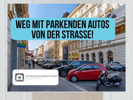 Autos weg von der Straße!