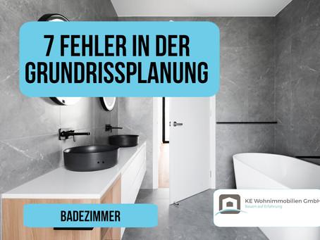 7 Fehler in der Grundrissplanung - Badezimmer