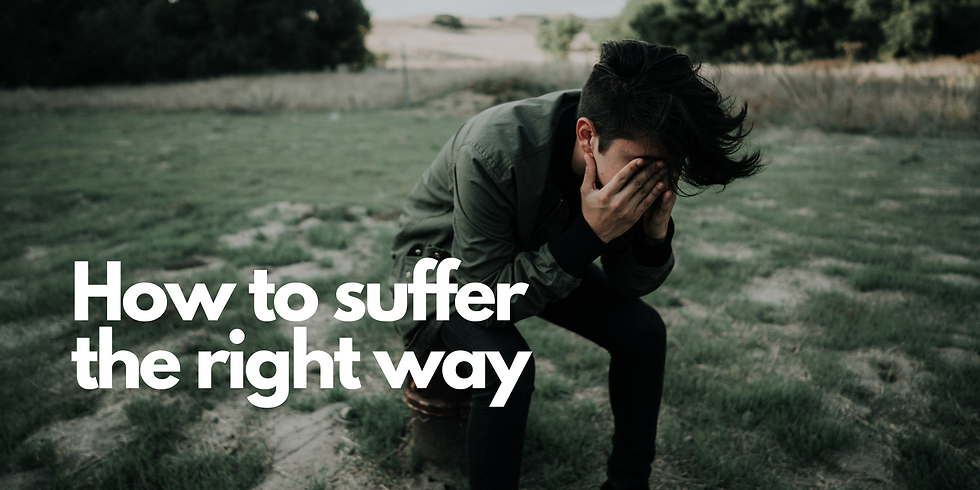 How to Suffer the Right Way // Aaron Tsang