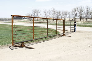 24' Free Standing Corral Panel shown with optional gate