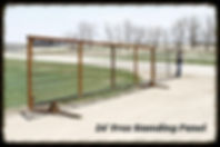 24' Free Standing Corral Panel with Swing Gate