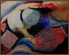 Cave Dance II  2020 Oil, Acrylic, Collag