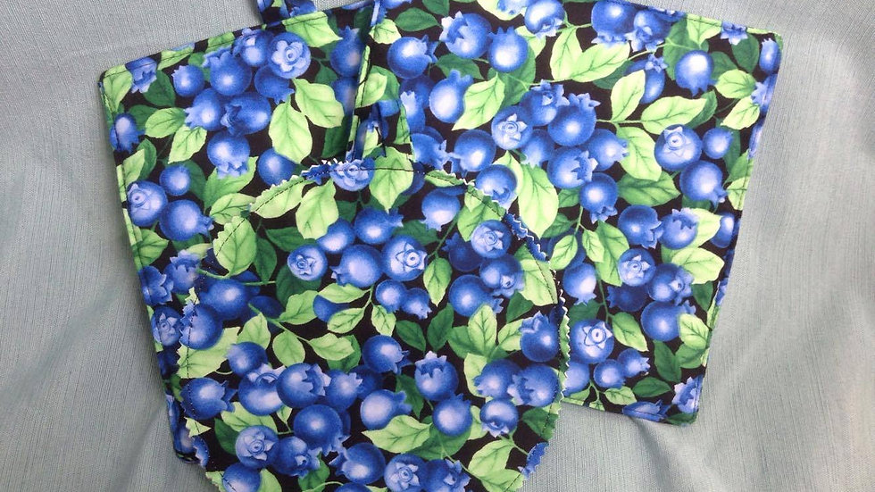 Large Blueberry Print Set