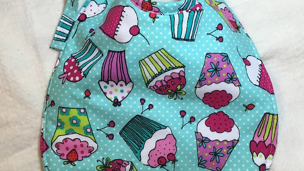 Cupcake Fabric Baby Bib