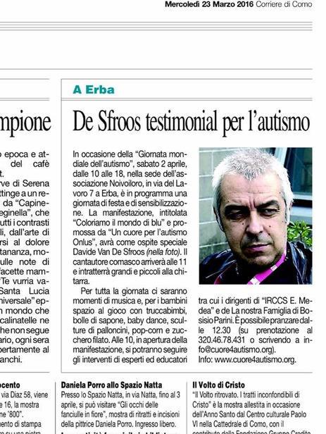 Corriere di Como 23 marzo 2016 (ritaglio