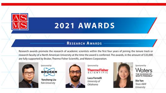 Yansheng Liu won the 2021 ASMS Research Award