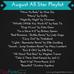 August All Star Playlist