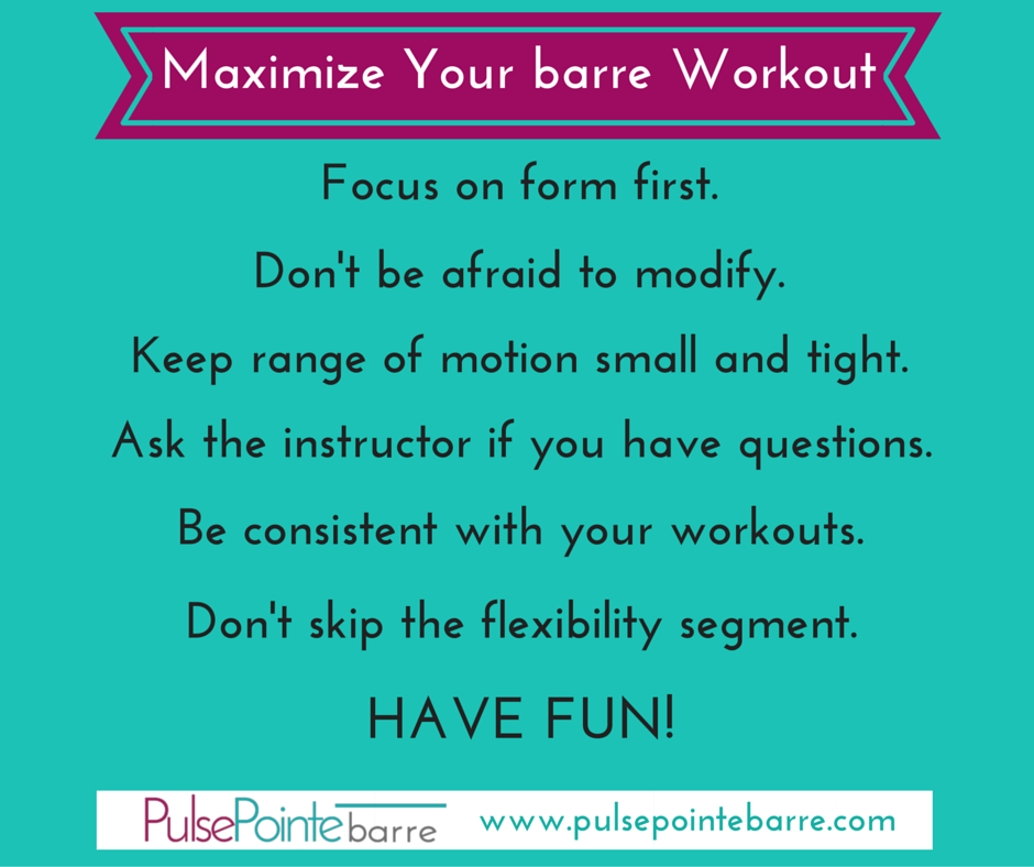 Tips to maximize your PulsePointe barre workout