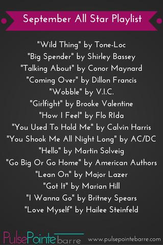 September All Star Playlist