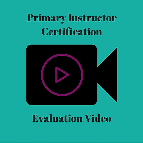 Primary Instructor Certification Video Evaluation