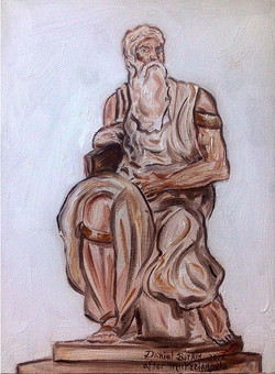 Michelangelo's Moses Minus the Horns