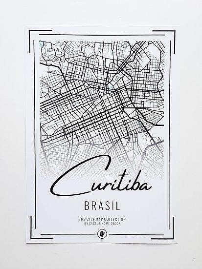 Pôster City Map - Curitiba