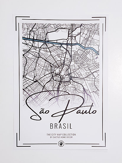 Pôster City Map - São Paulo