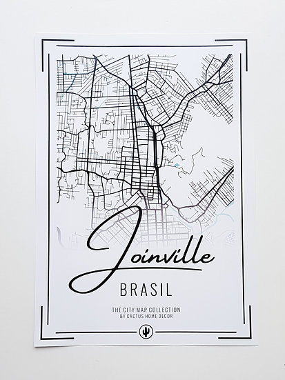 Pôster City Map - Joinville