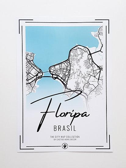 Pôster City Map - Floripa