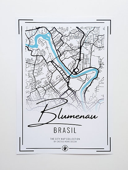 Pôster City Map - Blumenau