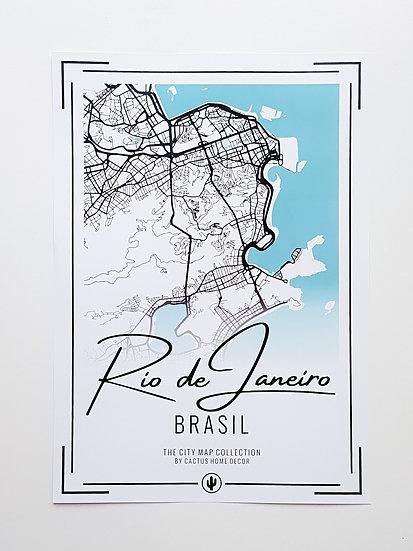 Pôster City Map - Rio de Janeiro