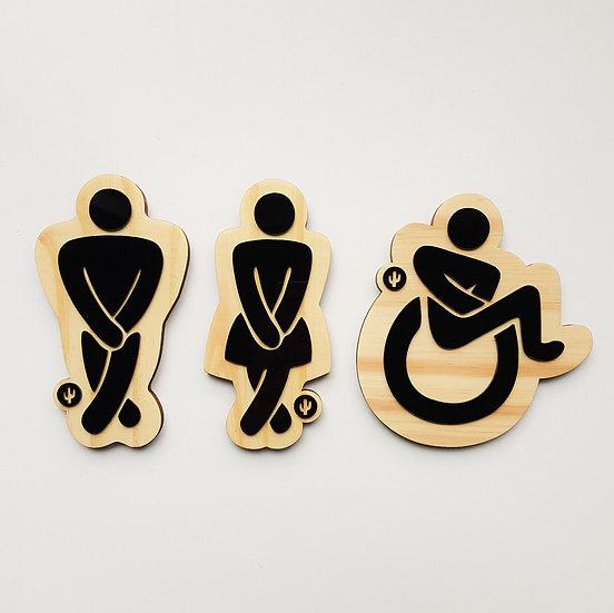 Trio Placa Toilet